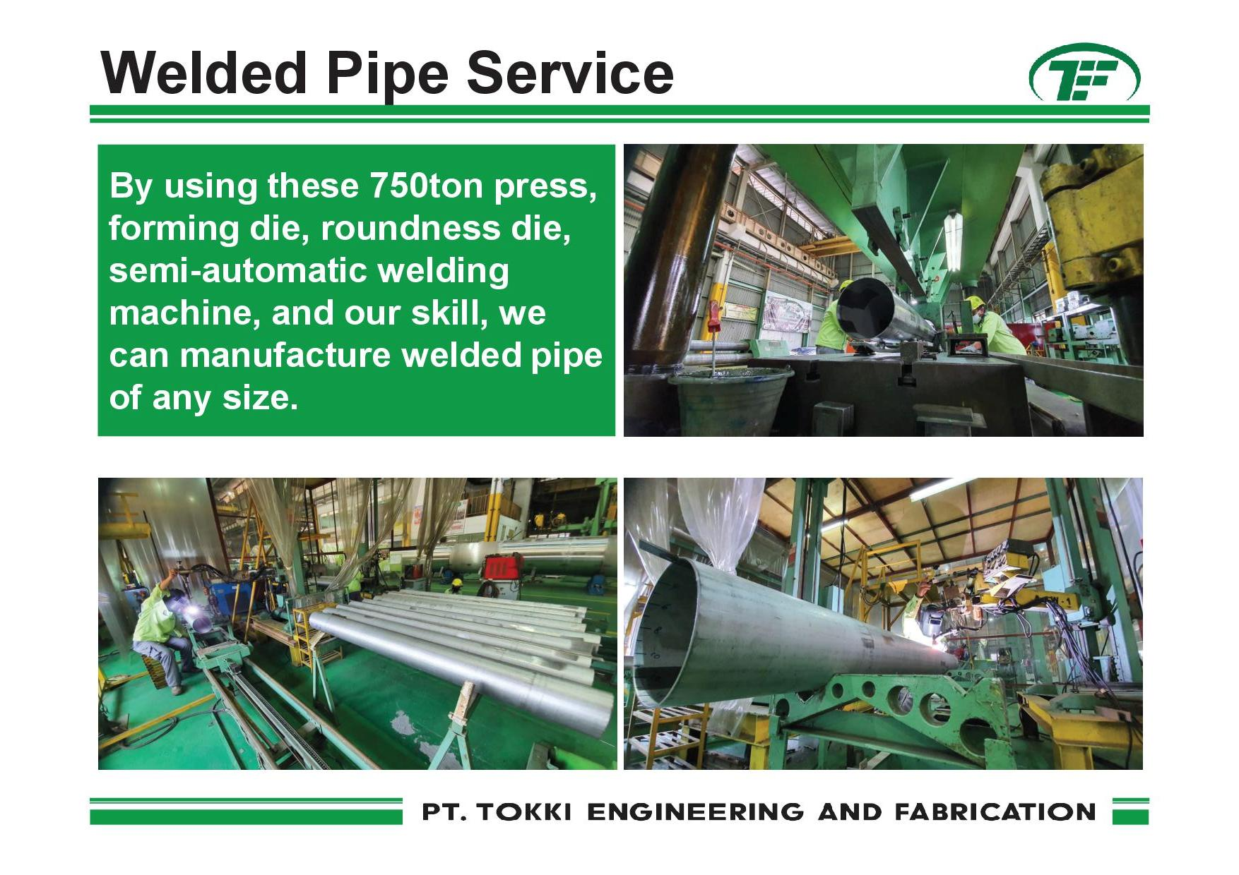 welded pipe service